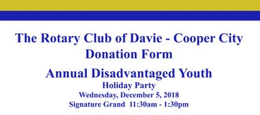 The Davie/Cooper City Rotary Club Annual Holiday Party